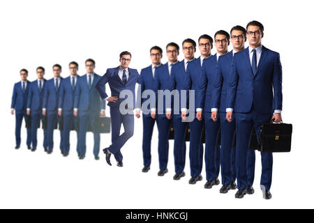 Standing out from the crown concept with businessman - Stock Photo
