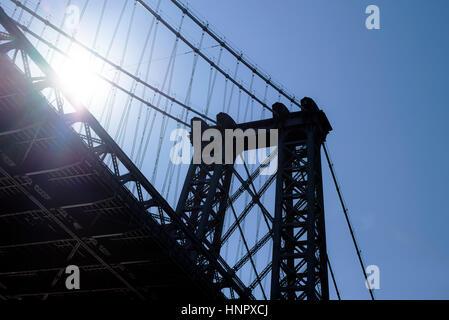Brooklyn Bridge, New York, New York, USA - Stock Photo