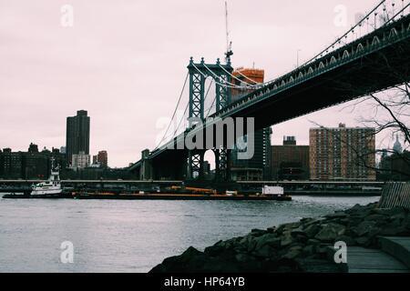 Manhattan Bridge - Stock Photo