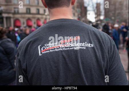 Boston, Massachusetts, USA. 19th February, 2017.  More than 1,000 scientists and science advocates gathered in Copley - Stock Photo