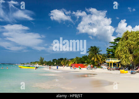 Jamaica Negril beach , West Indies, carribean island - Stock Photo
