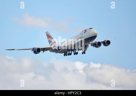 British Airways World Cargo Boeing 747-8F - Stock Photo
