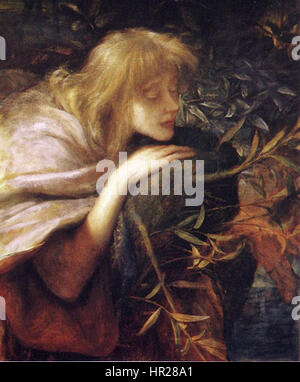 Ophelia - George Frederic Watts - Stock Photo