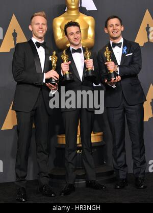 Los Angeles, CA, USA. 26th Feb, 2017. Justin Hurwitz in the press room for The 89th Academy Awards Oscars 2017  - Stock Photo