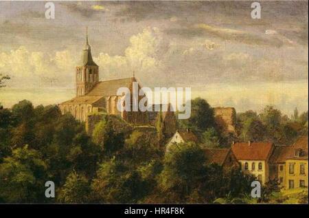 Oskar Begas St Gangolf in Heinsberg 1851 - Stock Photo