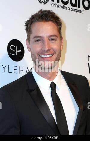 Los Angeles, CA, USA. 26th Feb, 2017. Justin Hrtley at arrivals for 2017 Elton John AIDS Foundation Academy Awards - Stock Photo