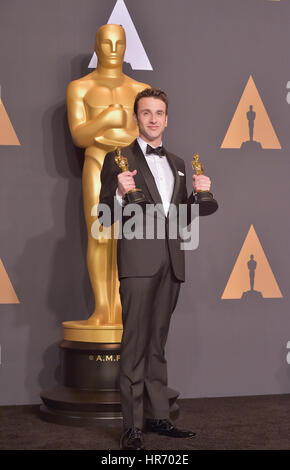 Hollywood, Ca. 26th Feb, 2017. Justin Hurwitz, at 89th Annual Academy AwardsPress Room at Hollywood & Highland Center, - Stock Photo
