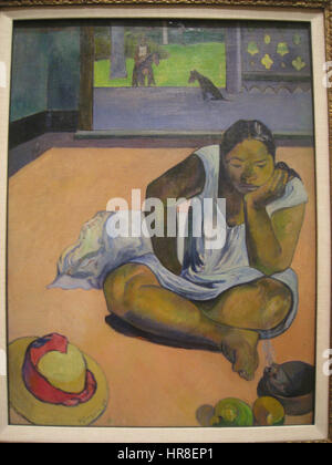 The Brooding Woman, 1891, by Paul Gauguin (1848-1903) - IMG 7191 - Stock Photo