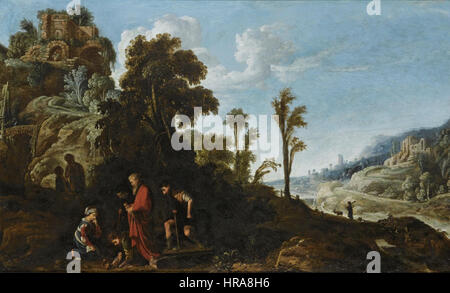 David Teniers (I) - A biblical scene - Stock Photo