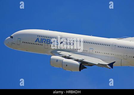 Airbus A380-800 - Farnborough Airshow - Stock Photo