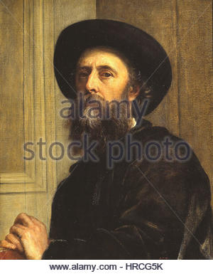 Self portrait by George Frederic Watts 1864 - Stock Photo