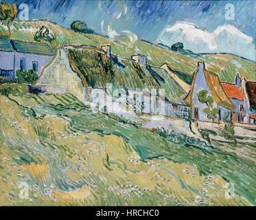 Gogh, Vincent van - Cottages - Stockfoto