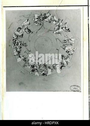 Autor Alfons Mucha 24.7.1860-14.7.1939 - Studie stropu pro Primatorskou sin Obecniho domu - Stock Photo