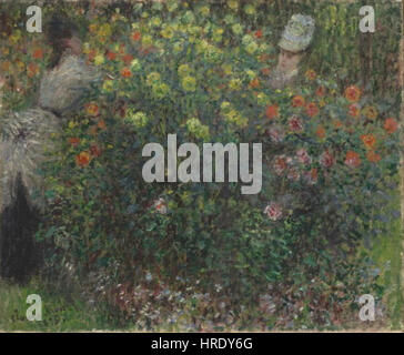 Claude Monet 14. 11. 1840-5. 12. 1926 - Damy v kvetinach - Stock Photo