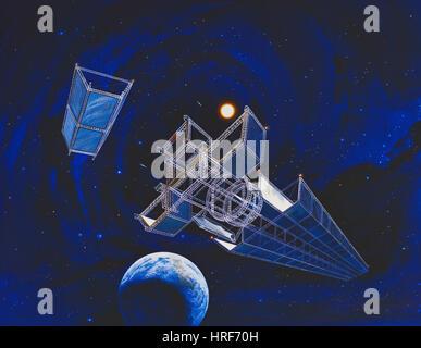 NASA Satellite, Conceptual Image - Stock Photo