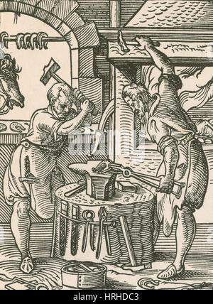 The Smith, Medieval Tradesman - Stock Photo