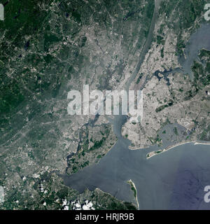 New York City, Satellite Image - Stock Photo
