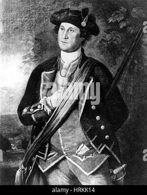 George Washington, Virginia Colonel, 1772 - Stock Photo