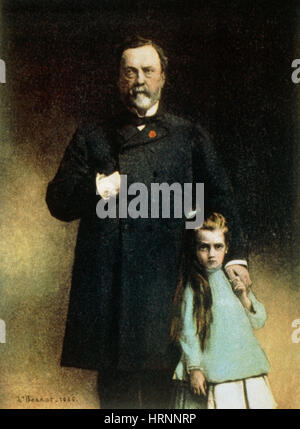 Louis Pasteur and His Granddaughter - Stockfoto
