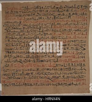 Edwin Smith Papyrus, 1500 BC - Stock Photo
