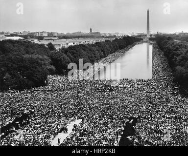 March on Washington for Jobs and Freedom, 1963 - Stock Photo