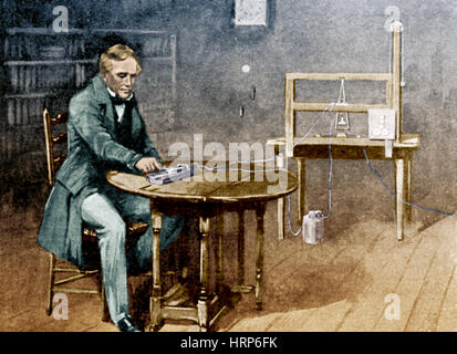 Samuel Morse and Telegraph - Stock Photo