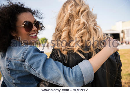 Two friends starting their best party - Stock Photo