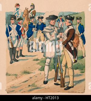 Vereinigte Staaten von Nord-Amerika, 1775-1783. Artist: Claude Ferdinand Gaillard - Stock Photo