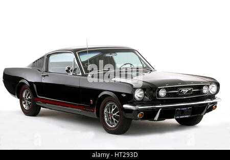 1966 Ford Mustang 289 GT. Artist: Unknown. - Stock Photo