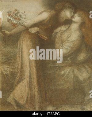 Dante's Dream on the Day of the Death of Beatrice (Io sono in pace), 1875. Artist: Rossetti, Dante Gabriel (1828 - Stock Photo