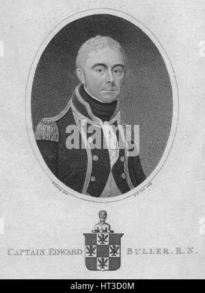 'Captain Edward Buller, R.N.', 1806. Artist: Henry R Cook. - Stock Photo