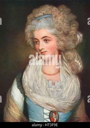 'Miss Chaplin', c18th century (1911). Artists: Percy Henry Martindale, John Russell. - Stock Photo