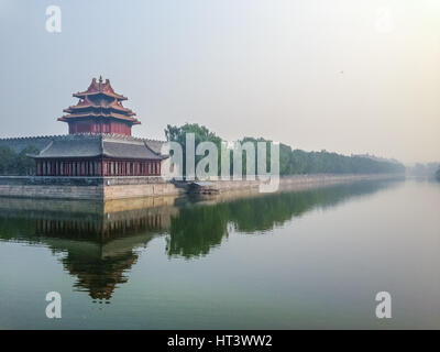 Forbidden City outer wall - Beijing, China - Stockfoto