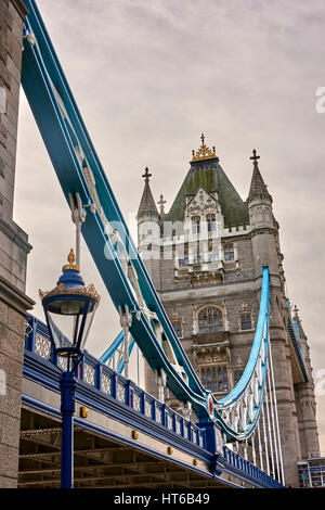 Tower Bridge Was Painted In Red White And Blue Paint For