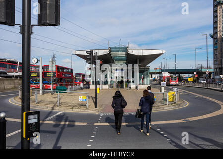 Canning Town Bus Station & Interchange Hub, Canning Town, London, England, U.K. - Stock Photo