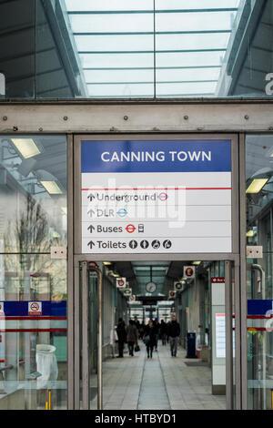 Canning Town Bus Station & Interchange Hub, Canning Town, London, England, U.K. - Stock Photo