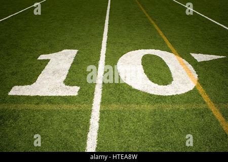 Ten yard line - Stock Photo