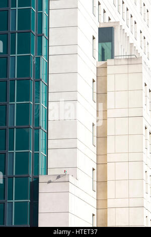 Glass buildings in London - Stock Photo