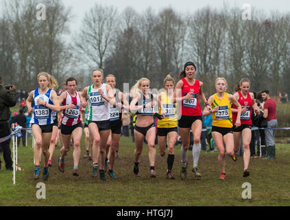 Prestwold Hall, Loughborough 11. Claire Duck (1383)  Louise Small (1017)  Gemma Steel (1087)  Jessica Judd (967) - Stockfoto