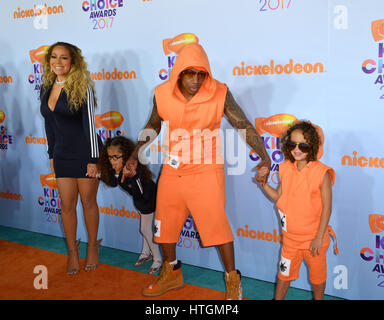 Los Angeles, USA. 11th Mar, 2017. LOS ANGELES, CA. March 11, 2017: Singer Mariah Carey & husband Nick Cannon & children - Stock Photo