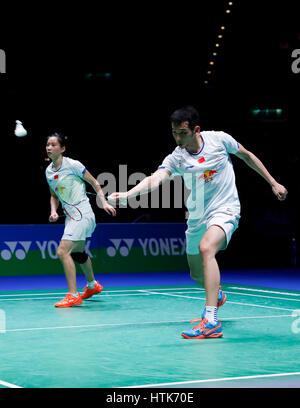 Birmingham Mar Lu Kai Rhuang Yaqiong Of China Compete During Huang Badminton