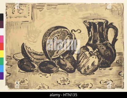 Paul Signac 11. 11. 1863-15. 8. 1935 - Zatisi se dzbanem - Stockfoto