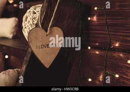 heart with the word love you - Stock Photo