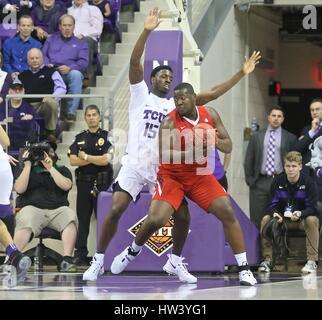 Fort Worth Texas, USA. 15th Mar, 2017. NIT basketball, tournament, NCAA, First Round, Bulldog center Terrell Carter - Stock Photo