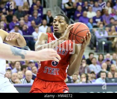 Fort Worth Texas, USA. 15th Mar, 2017. NIT basketball, tournament, NCAA, First Round, Bulldog guard Paul Watson - Stock Photo