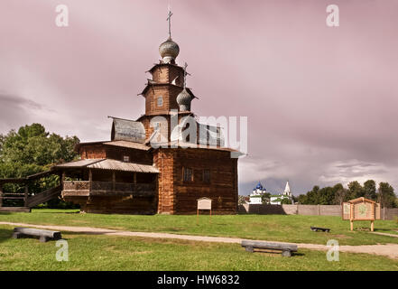Wooden church in suzdal - Stock Photo