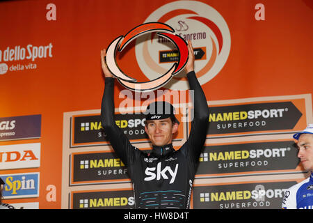18 March 2017 108th Milano - Sanremo 1st : KWIATKOWSKI Michal (POL) Sky  Photo: Cronos/Yuzuru Sunada - Stock Photo