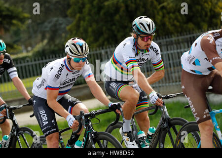 18 March 2017 108th Milano - Sanremo SAGAN Juraj (SVK) Bora - Hansgrohe SAGAN Peter (SVK) Bora - Hansgrohe  Photo: - Stock Photo