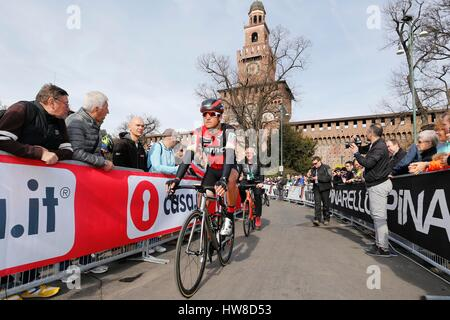 18 March 2017 108th Milano - Sanremo VAN AVERMAET Greg (BEL) BMC  Photo: Cronos/Yuzuru Sunada - Stock Photo