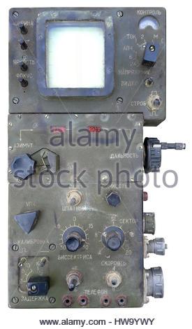 Old Russian Military Radio Emitting Station Locator - Stock Photo